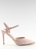 Sandałki na szpilce różowe J1126-1 PINK