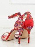 Sandałki orientalne czerwone KSL708 RED