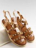 Sandałki z ćwiekami camel WL193 CAMEL