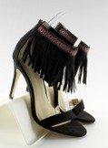 Sandałki z frędzlami etniczny wzór GD-16-5247 Black