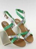 Sandałki z hologramowym paseczkiem X7961 Green