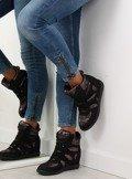 Sneakersy damskie czarne 925-Y BLACK