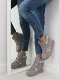 Sneakersy damskie szare AT-0650-L GREY