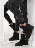 Sneakersy na koturnie czarne 168-129 BLACK