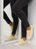 Trampki damskie licowe żółte XL01p BEIGE