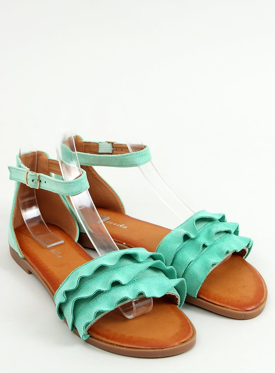 Mätové sandále s riaseným