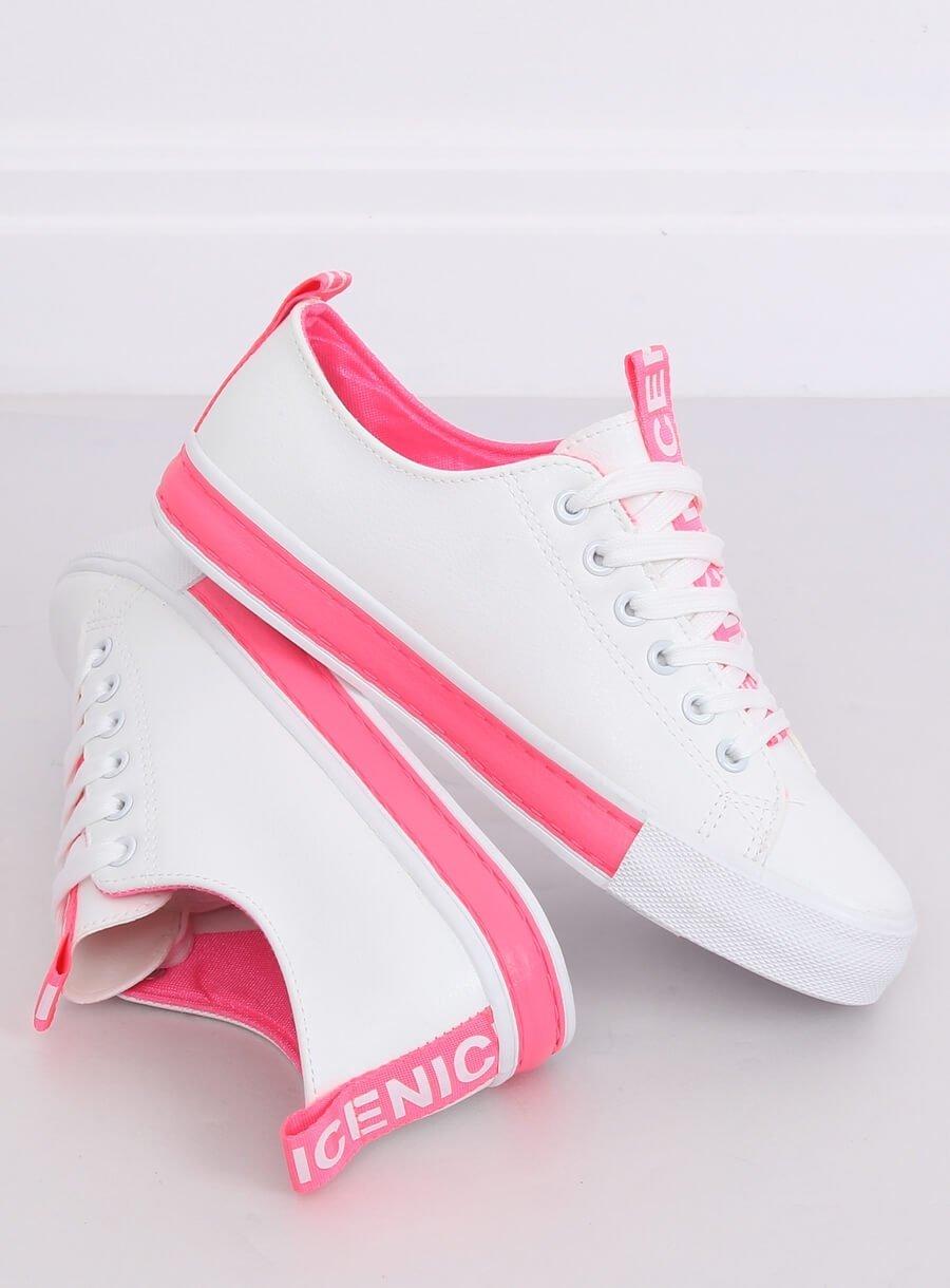 Tenisky bielo-ružové A88-23 FUSHIA veľ. 36