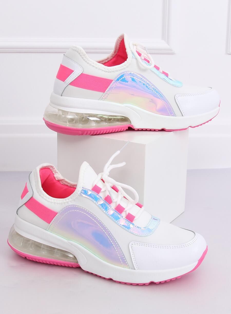 Efektná športová obuv bielo/ ružové