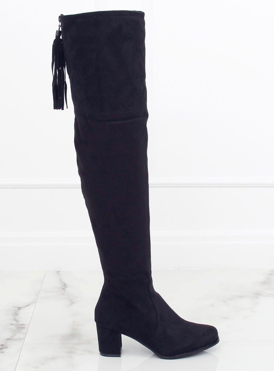 Mušketierske čižmy čierne