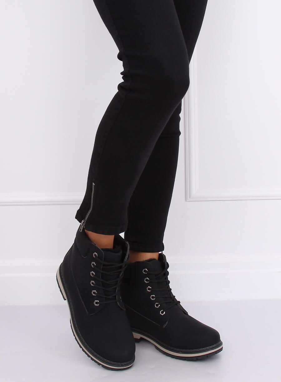 Čierne zateplené topánky