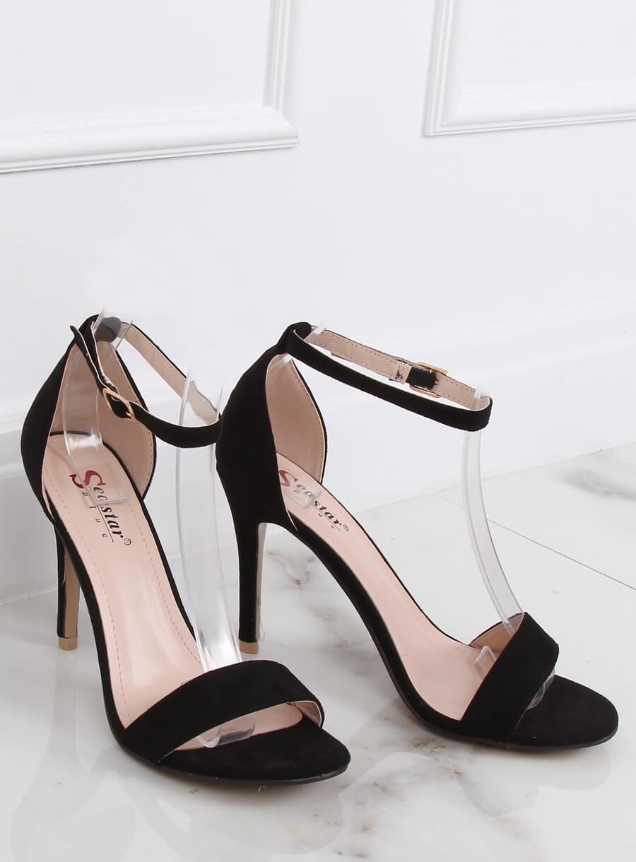 Čierne sandále vysoké