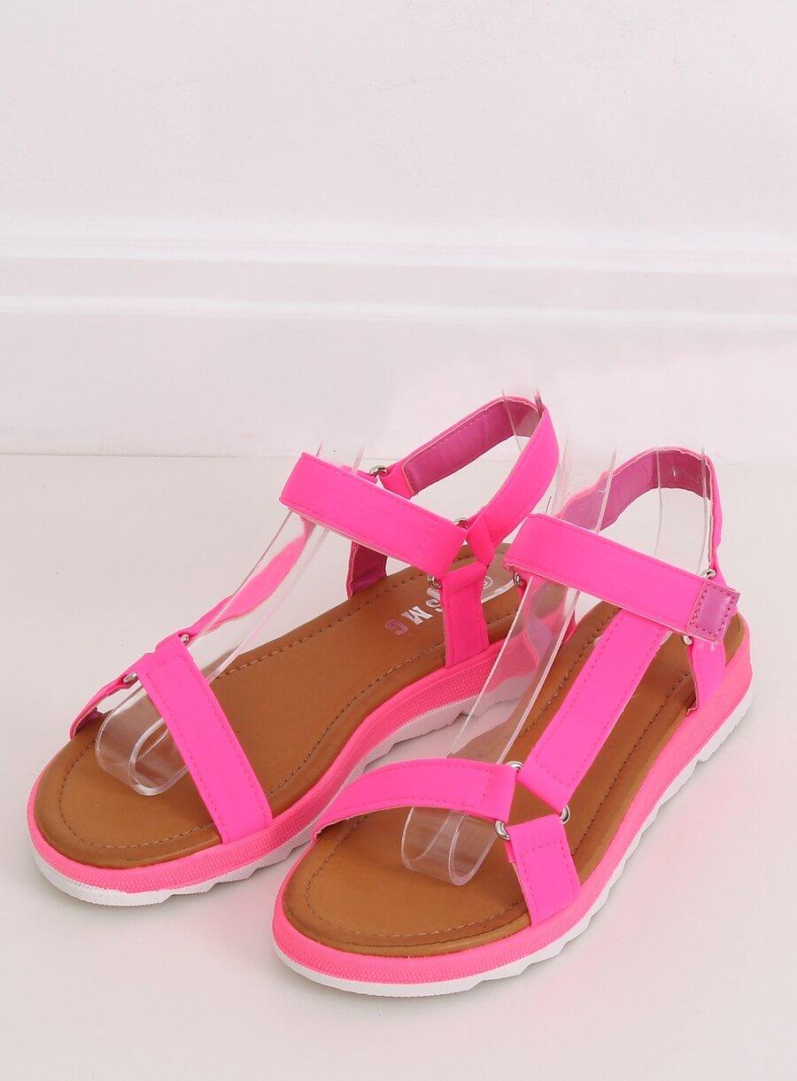 Ružové neónové sandále