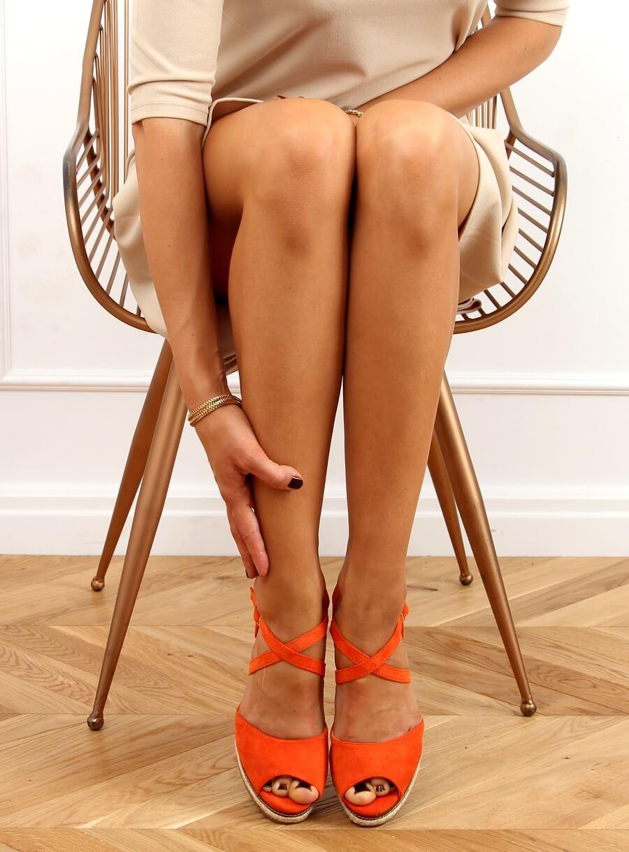 Oranžové sandále