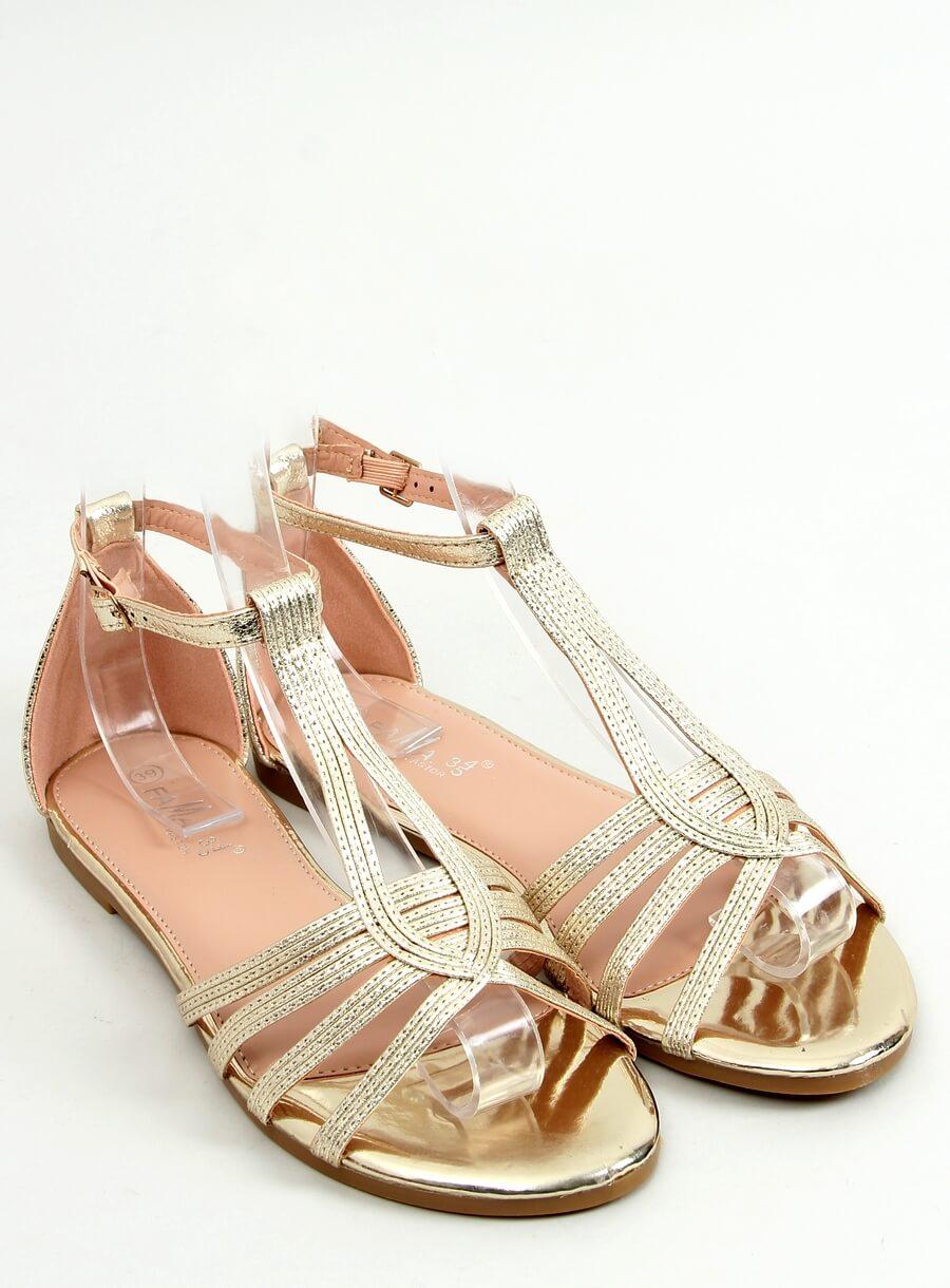 Zlaté dámske sandále