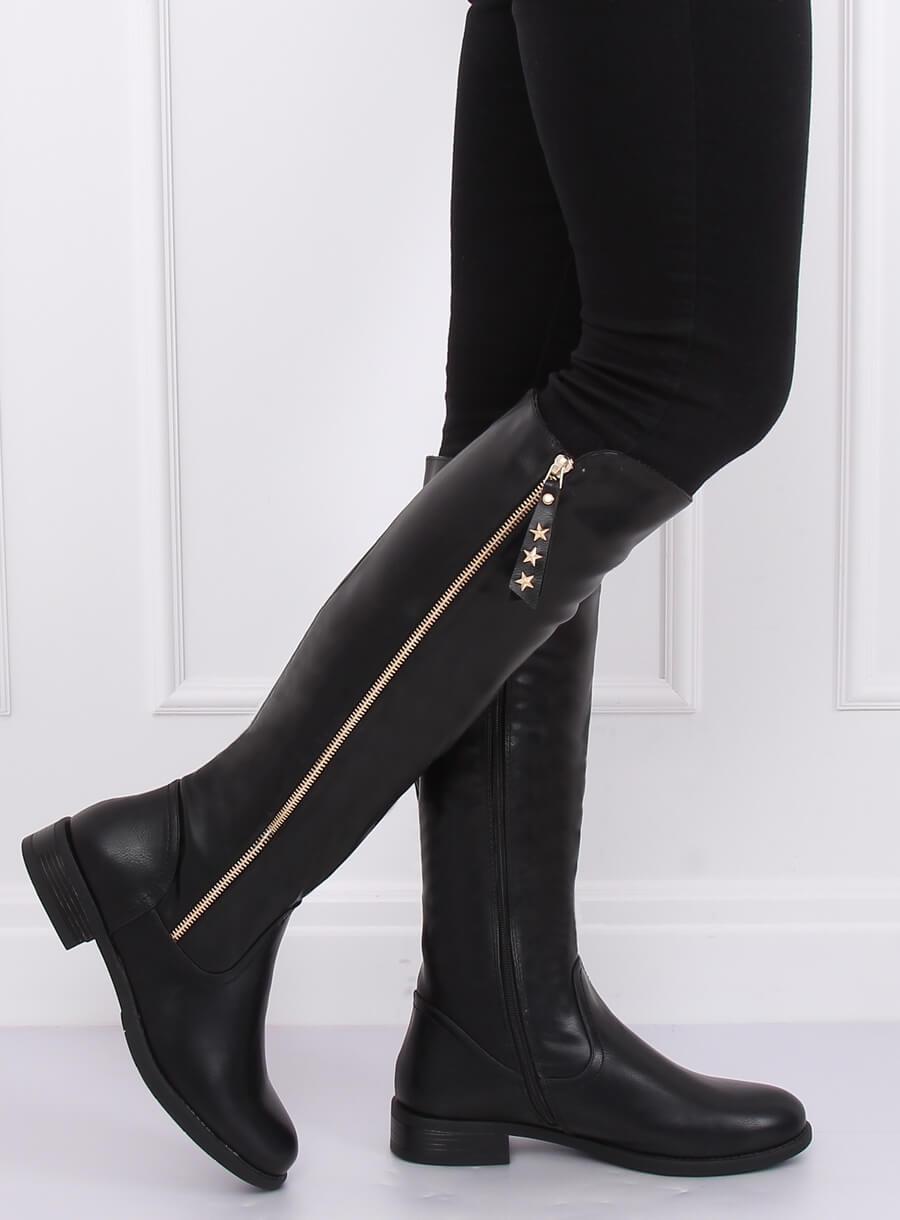 Čierne dámské čižmy