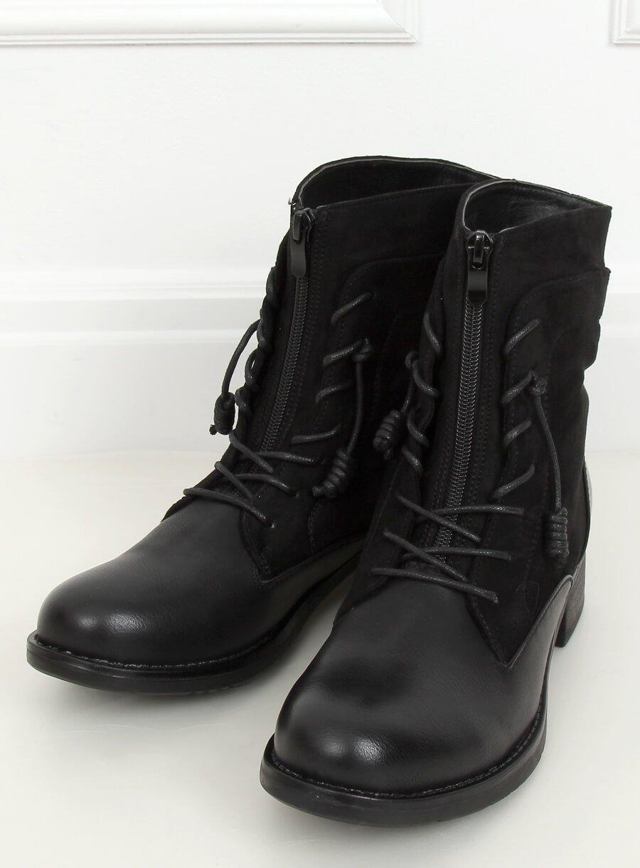 Čierne vojenské topánky
