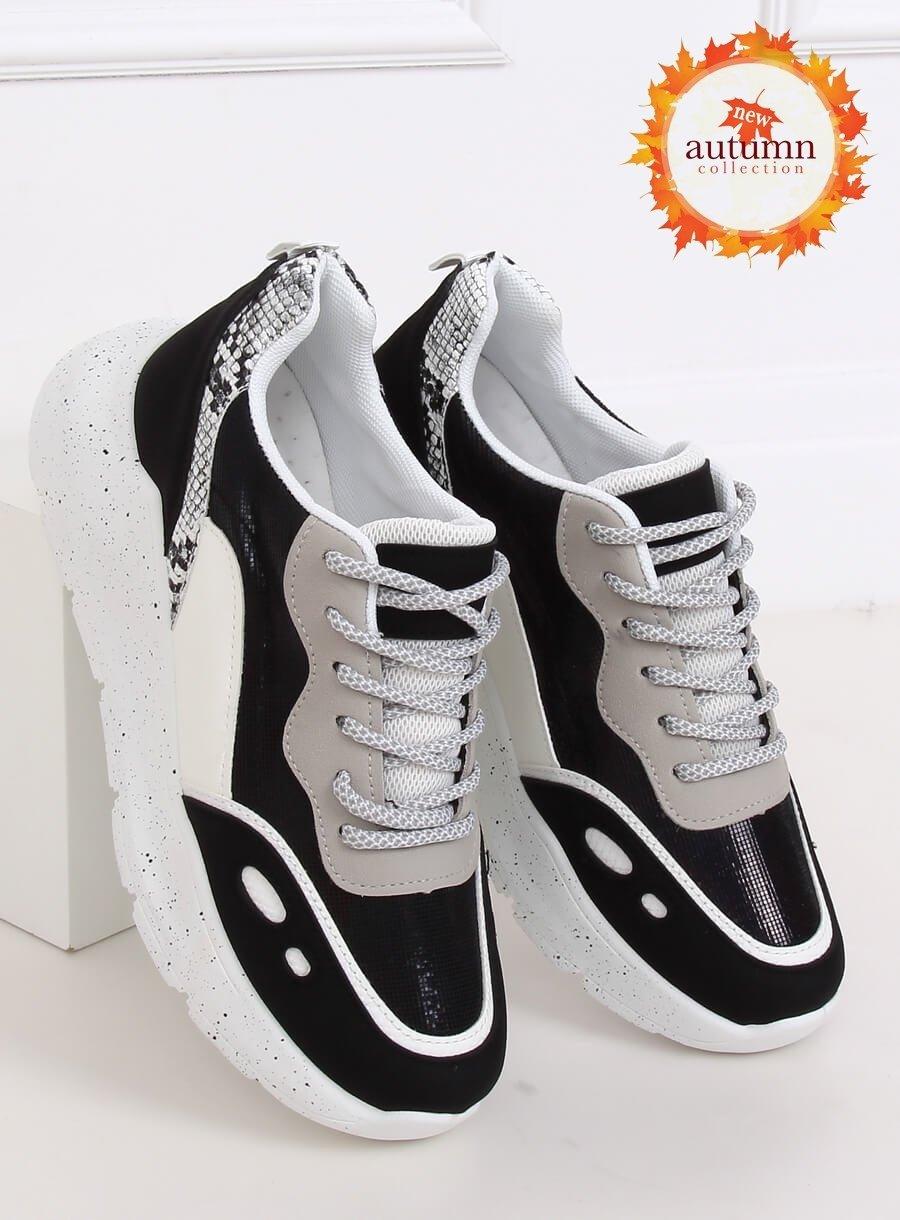 Bielo /čierna športová obuv