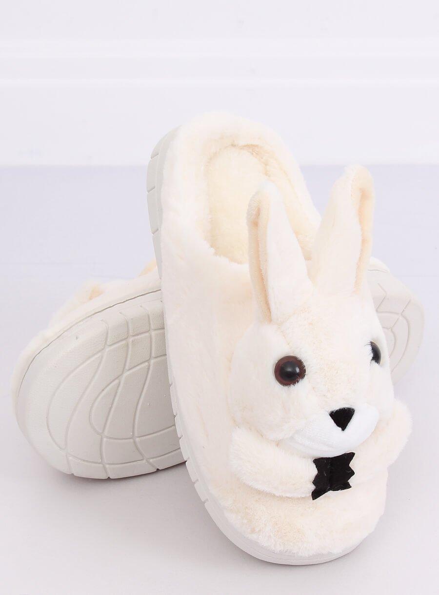 Papuče králik béžové