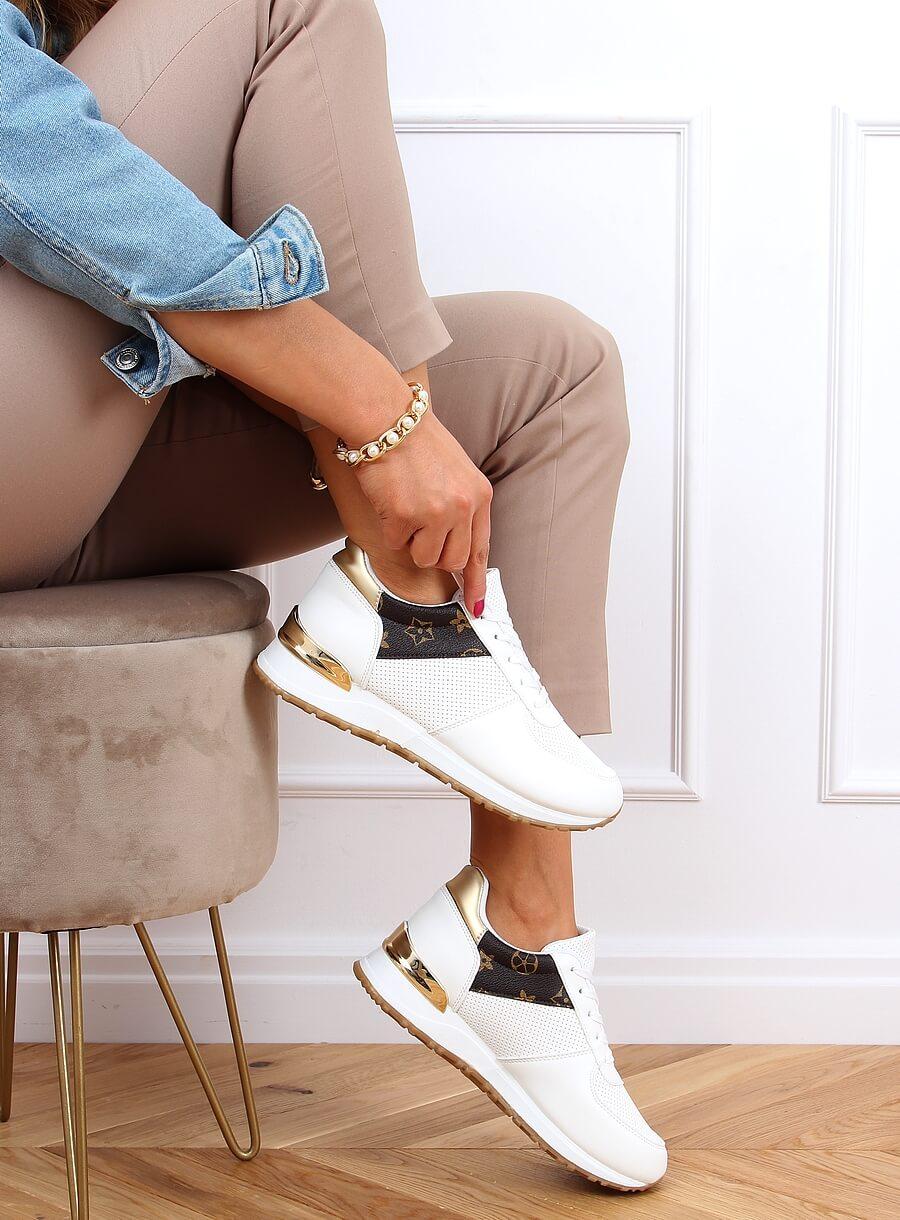 Športová obuv bielo/hnedá