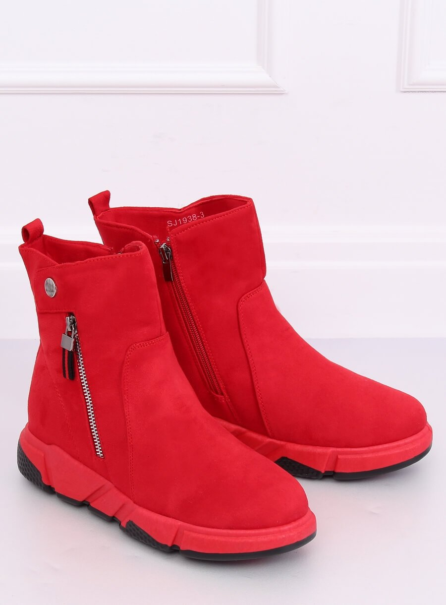 Elegantné čižmy červené