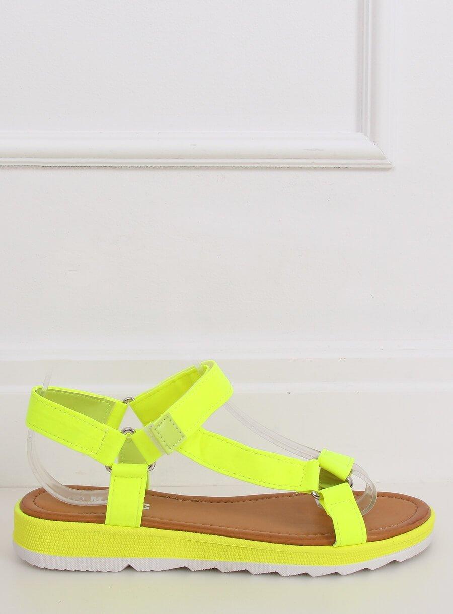 Žlto neónové sandále