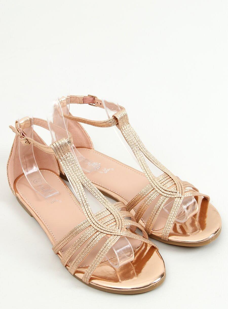 Ružové dámske sandále