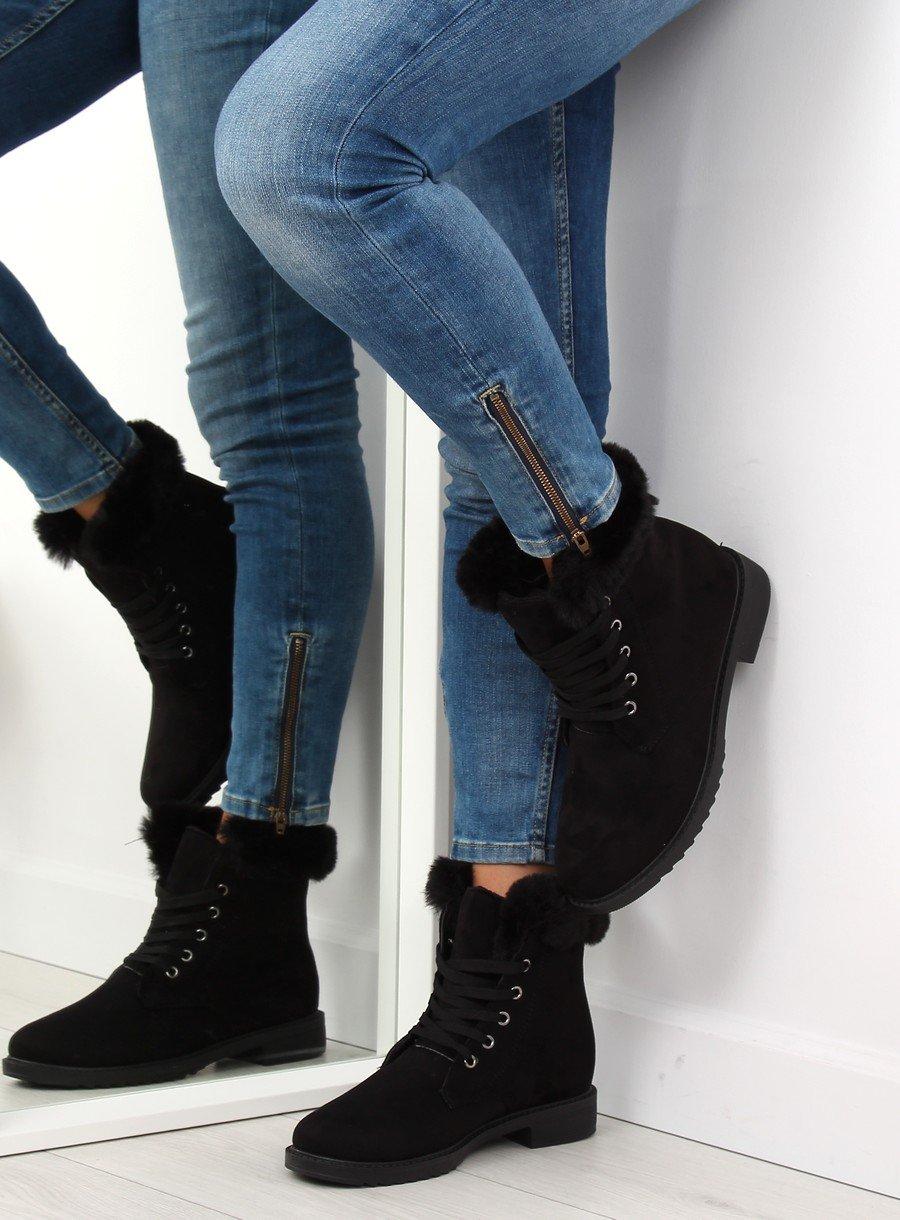 Zateplené čierne topánky