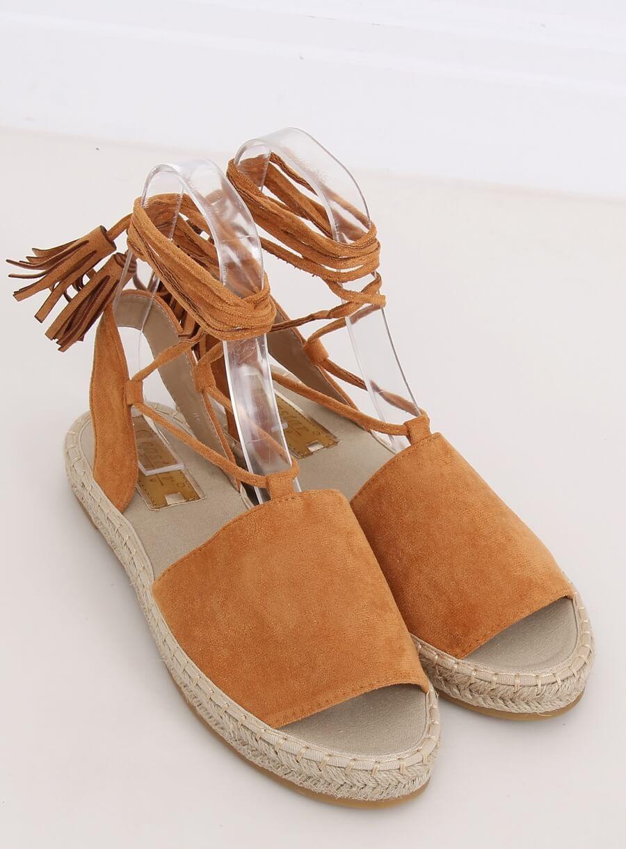 Espedryli/sandále karamelové