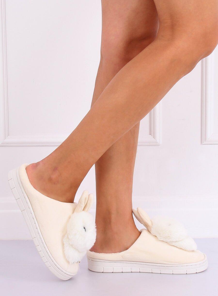 Papuče zajac béžové