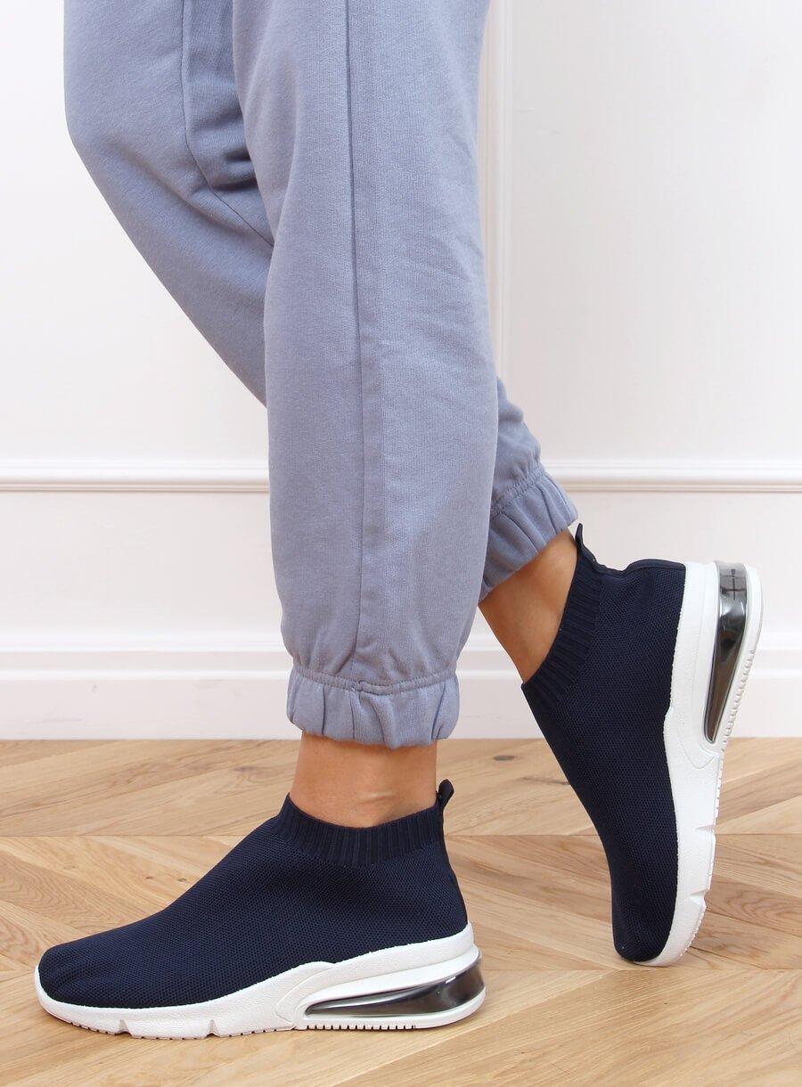 Športová ponožková obuv modrá