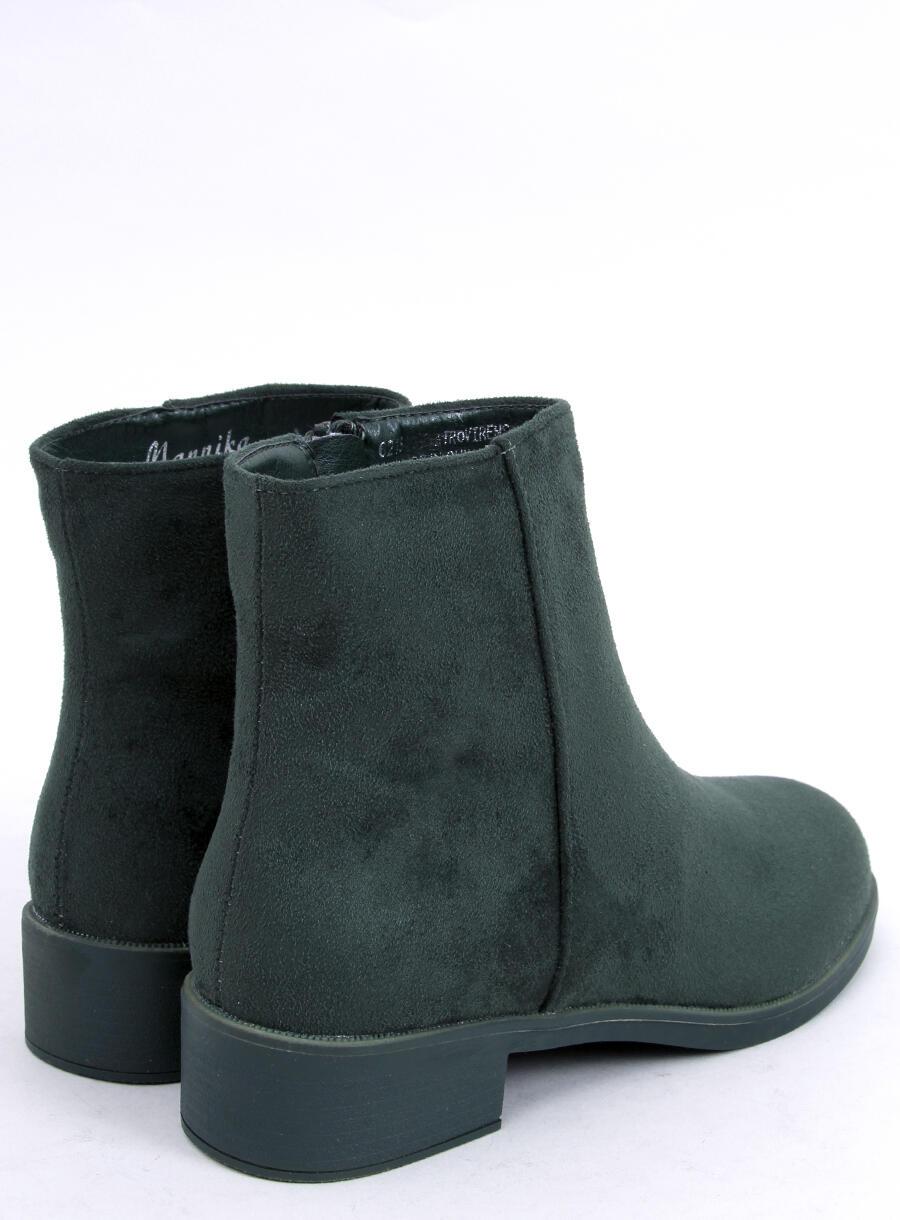 Klasické dámske čižmičky zelené