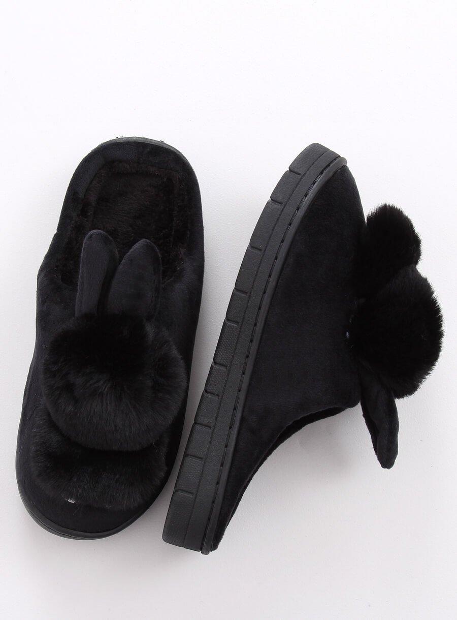 Papuče zajac čierne