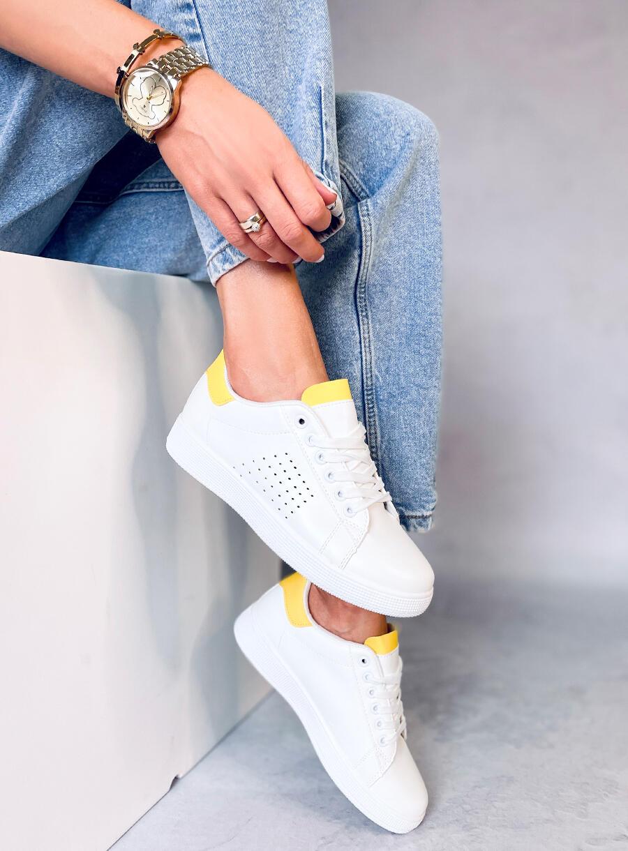 Dámské tenisky bielo žlté