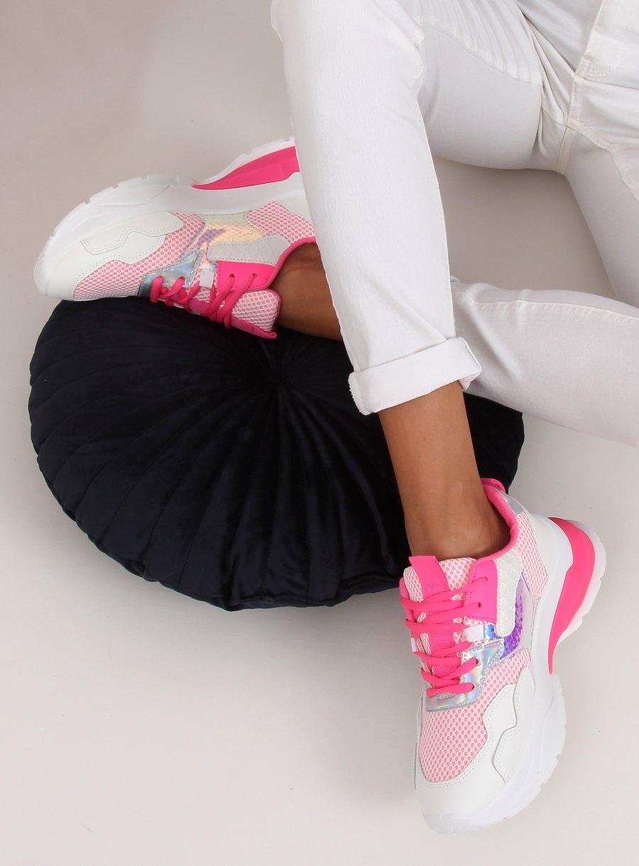 Bielo/ružová športová obuv