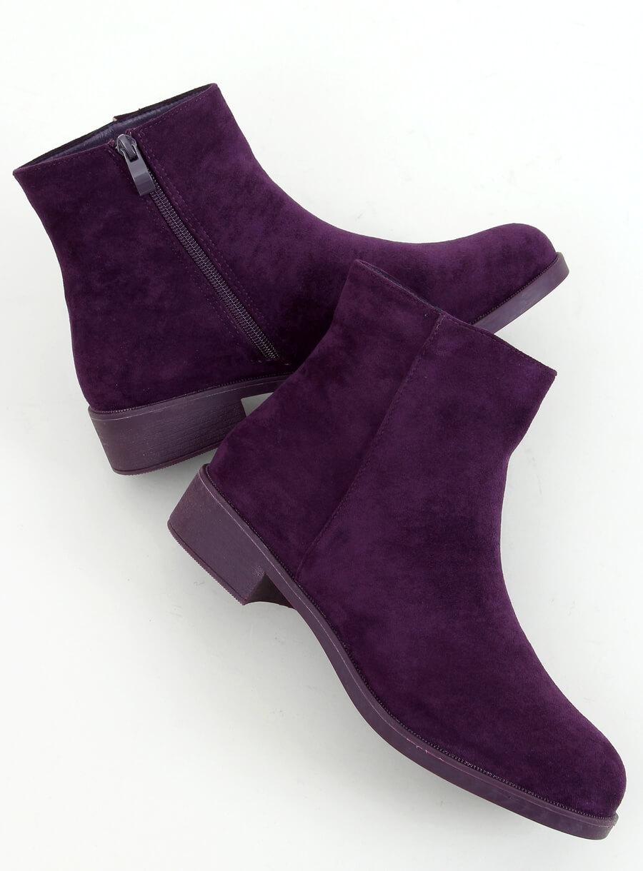 Klasické dámske čižmičky fialove