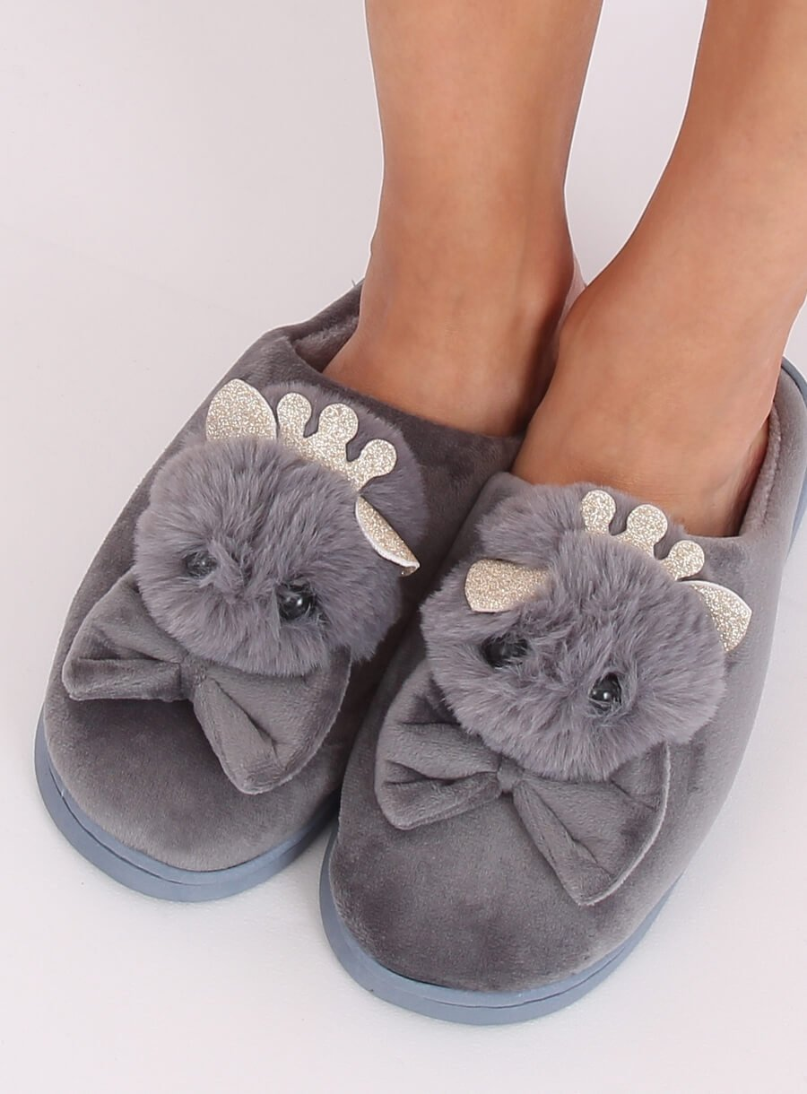 Papuče kohút sivé