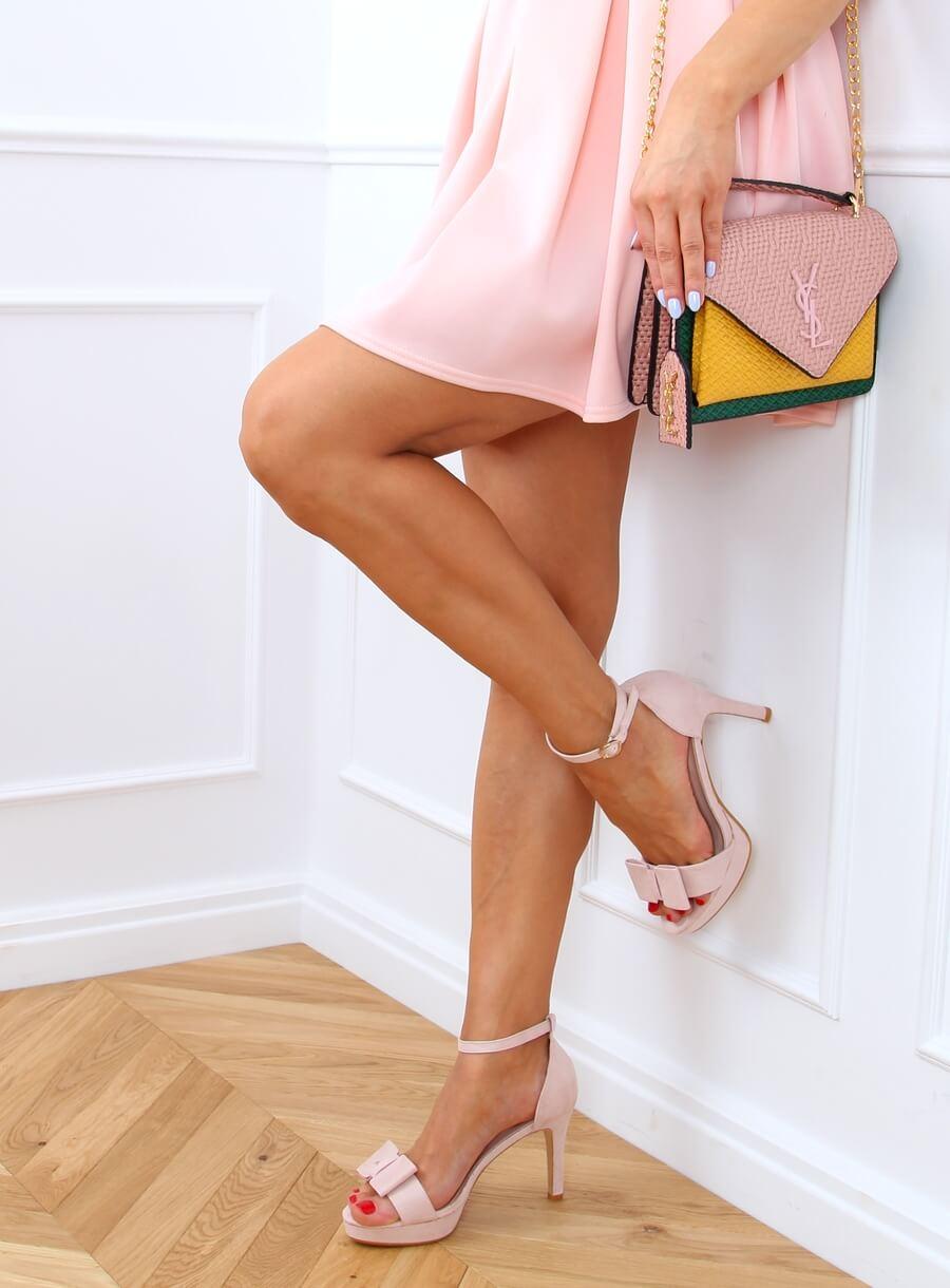 Sandále na platforme ružové