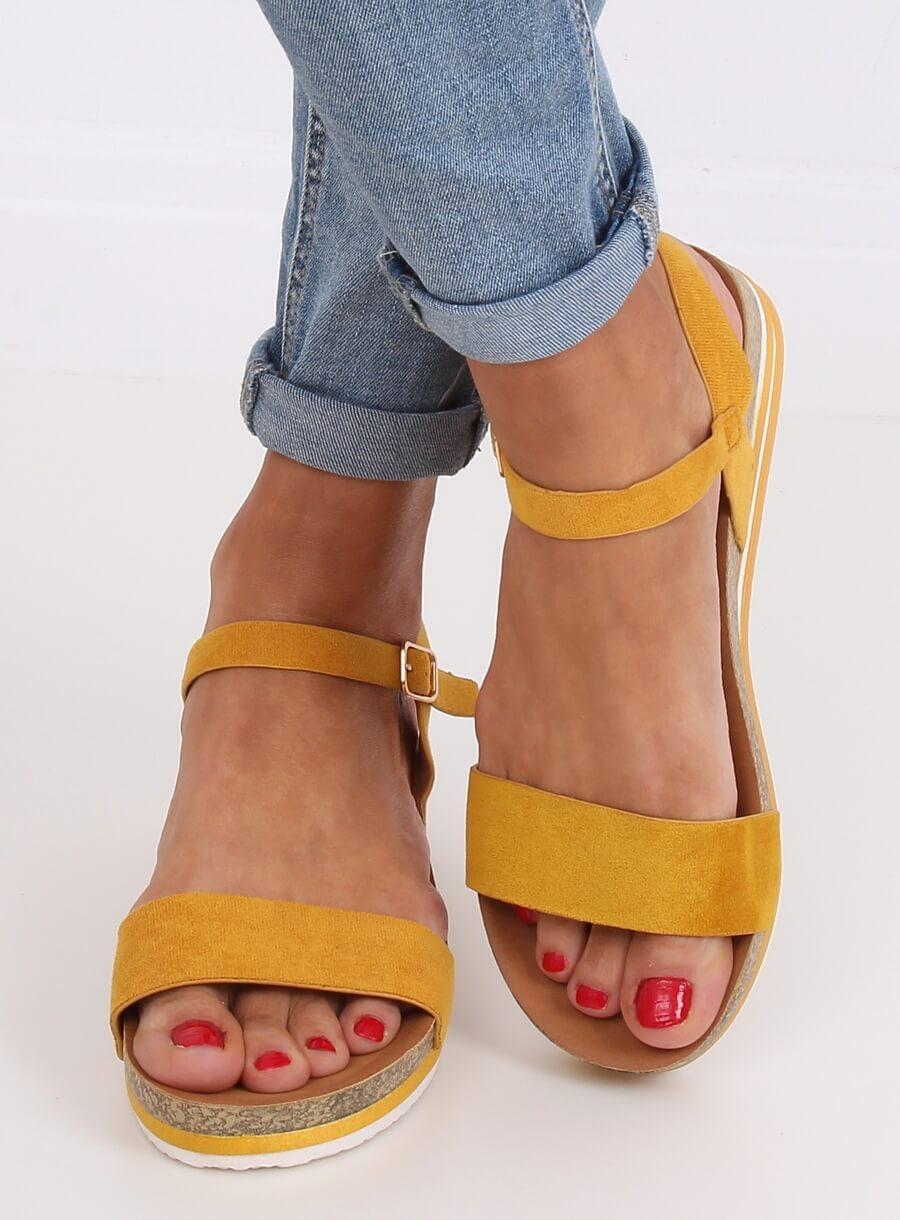 Dámské sandále žlté