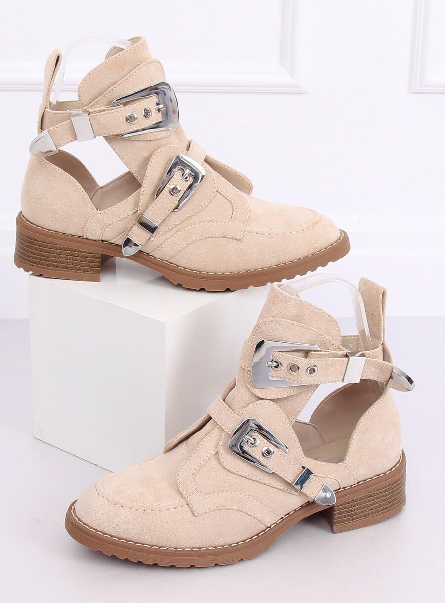 Topánky s prackou bežové