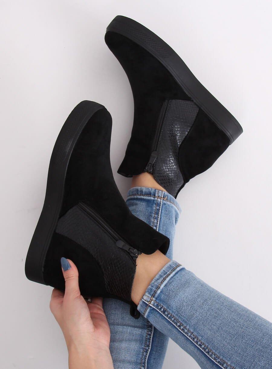 Kotnikové čižmičky čierne