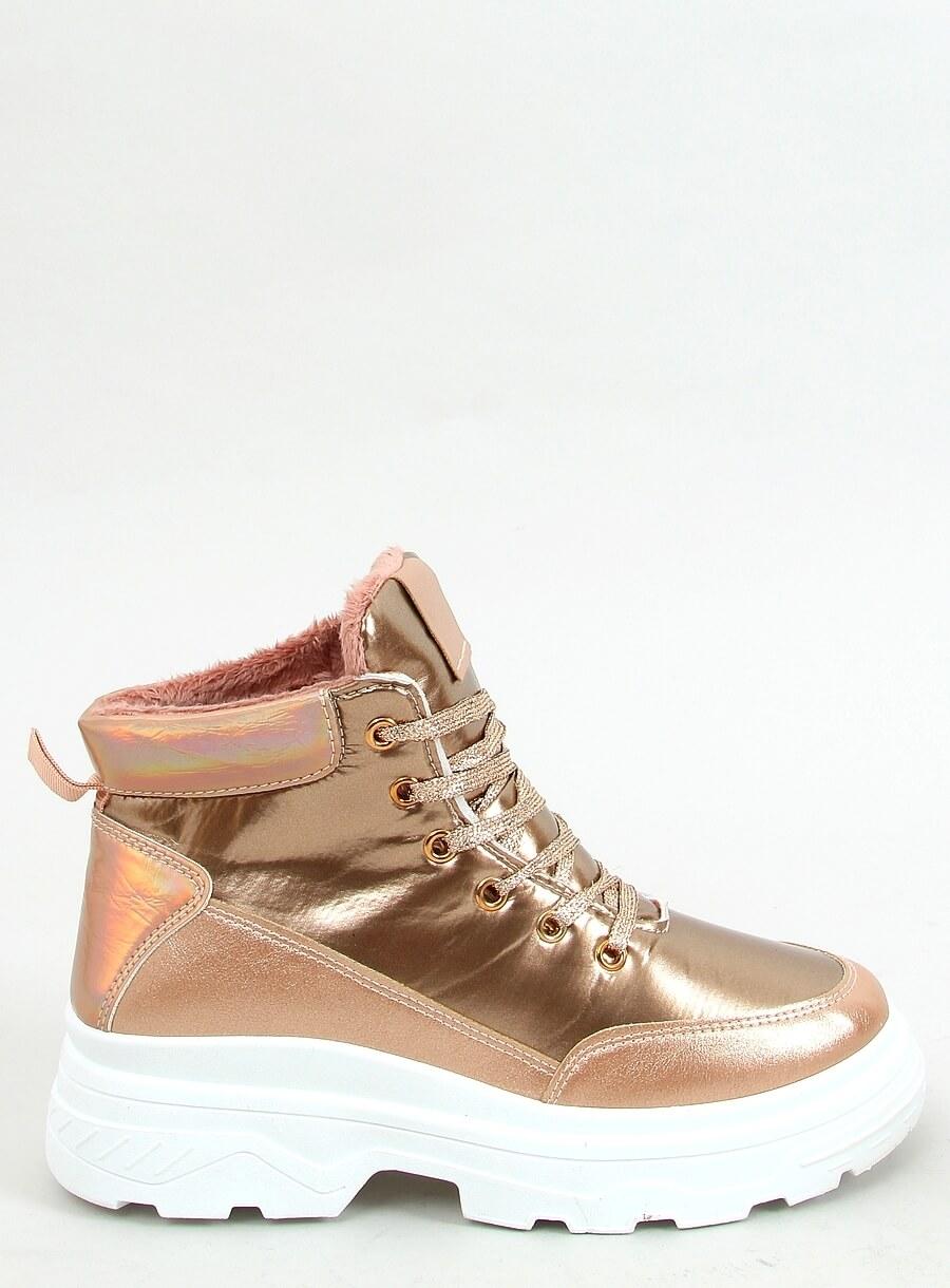 Zateplená športová obuv zlatá