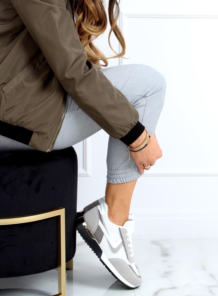 Viacfarebná športová obuv- biela