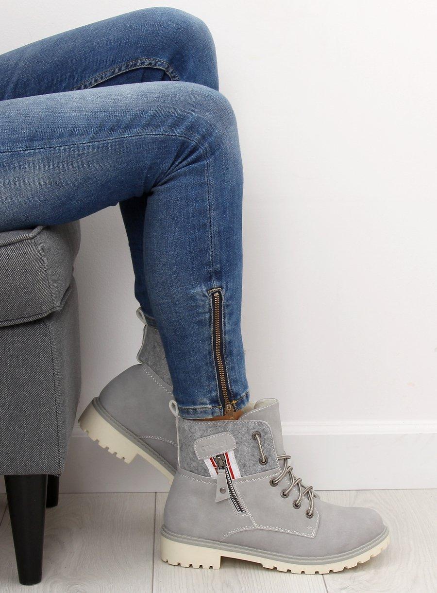 Šedé dámské topánky