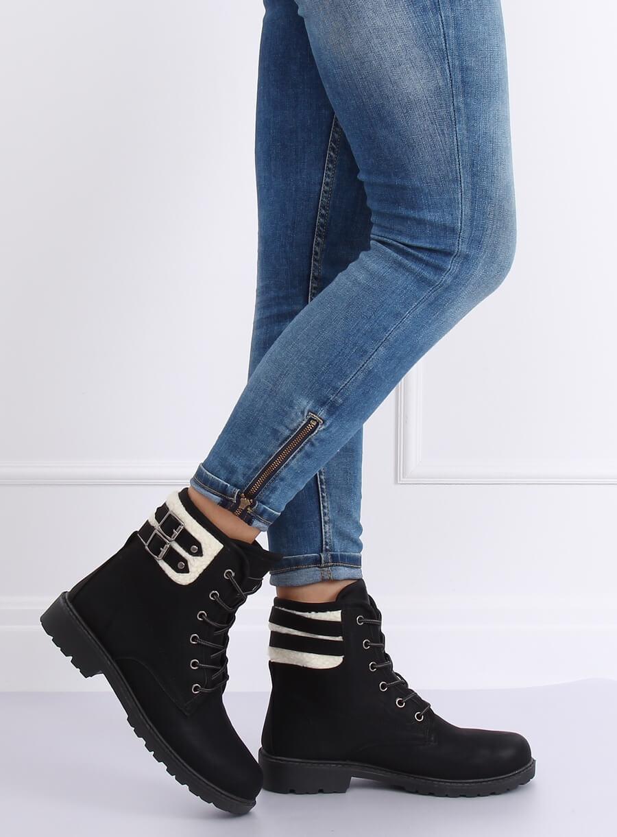 Dámské šnurovacie topánky čierne