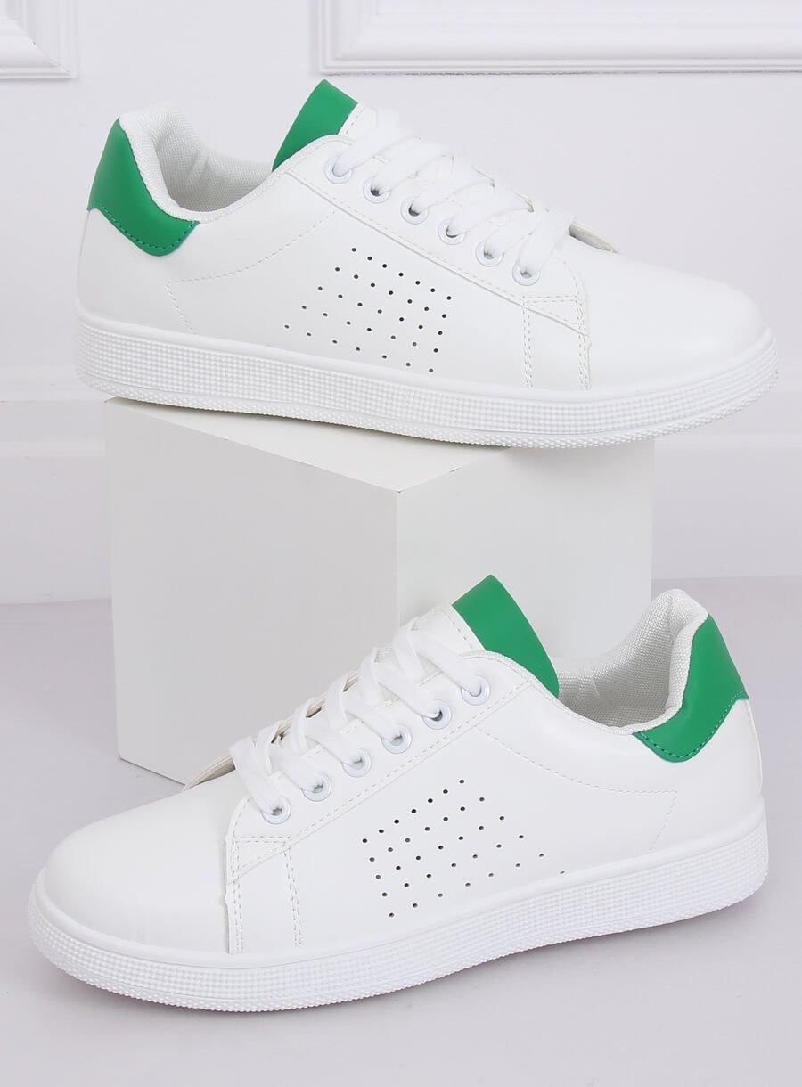 Damaské tenisky bielo zelené