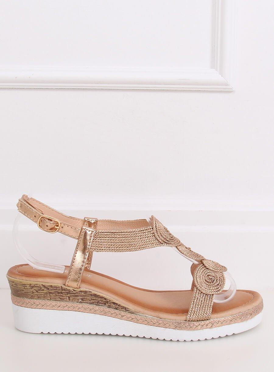 Dámske sandále champange