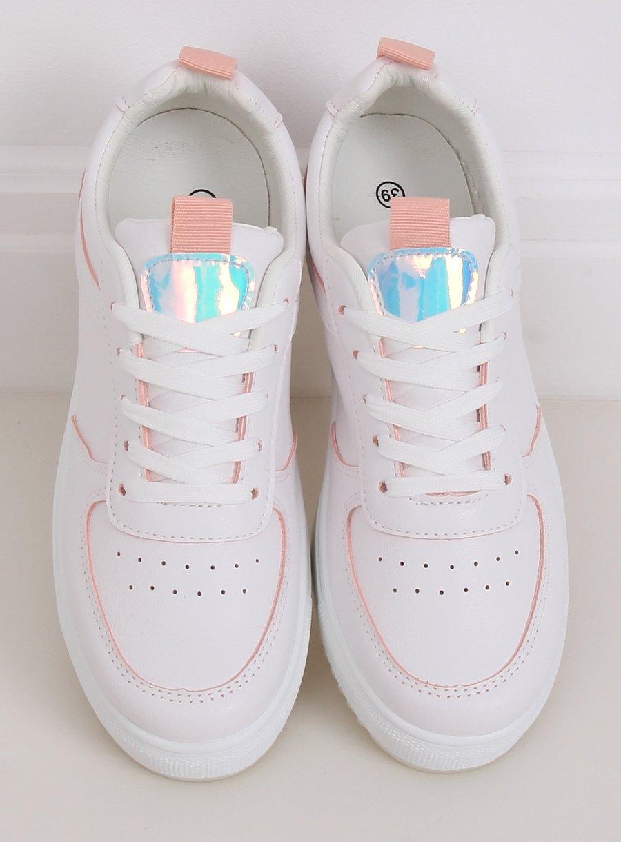 Dámska športová obuv bielo/ružová