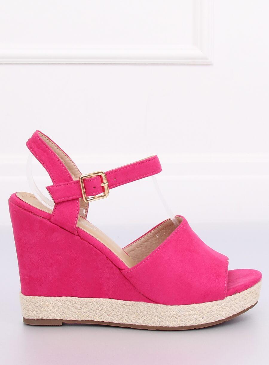 Sandále klinové ružové