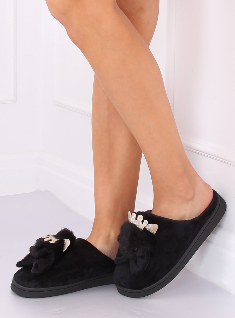 Papuče kohút čierne