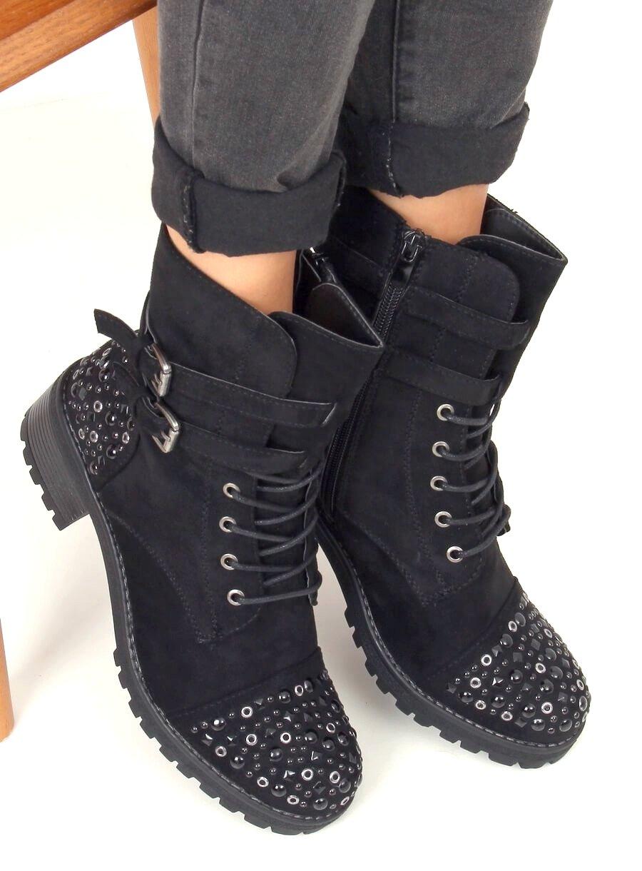 Rockové šnurovacie topánky